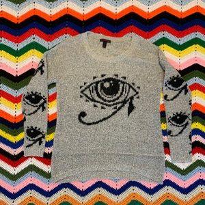 Material Girl Eye Of Horus Sweater
